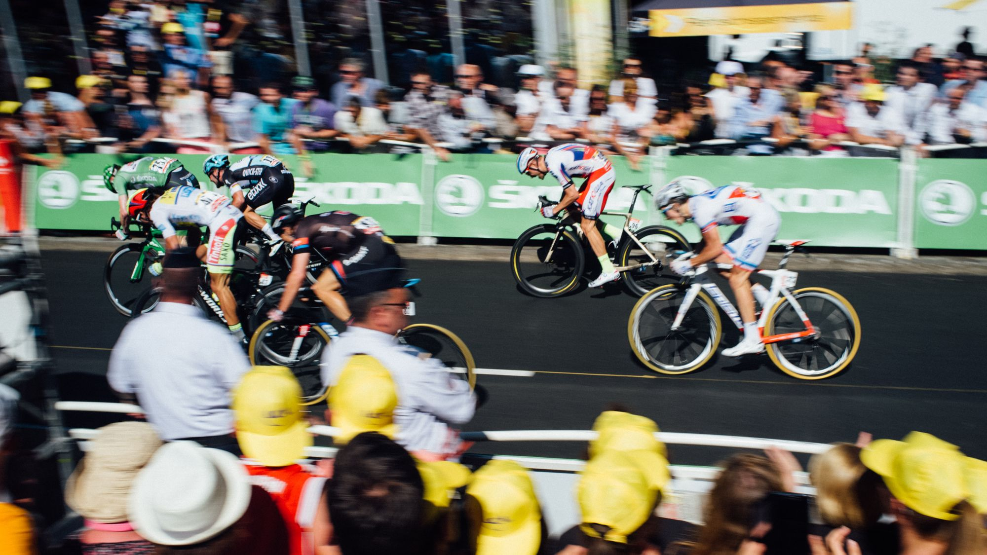 Controlled chaos: filming the Tour de France